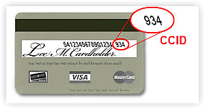 Credit Card CCID Location